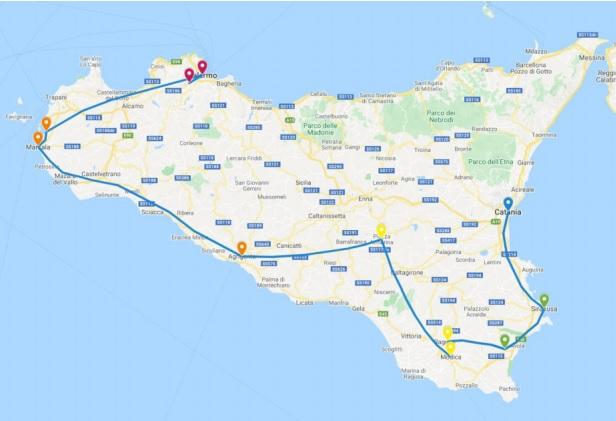 MINITOUR DELLA SICILIA: CATANIA/PALERMO